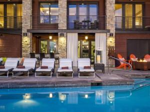 Pool at Hotel Terra, Teton Village, Jackson Hole Mountain Resort, WY.