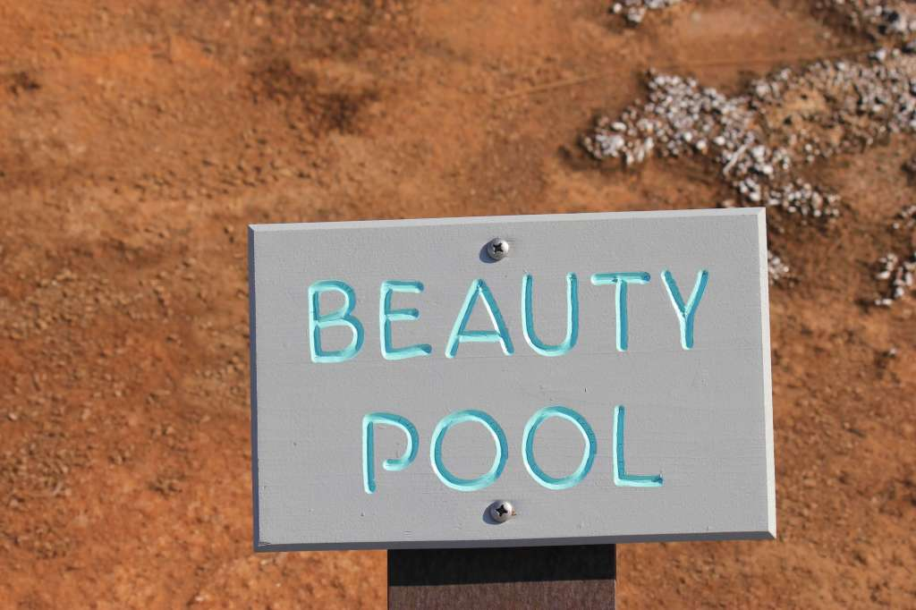Beauty Pool Sign, Yellowstone National Park